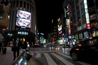 Night photo of Shibuya at night